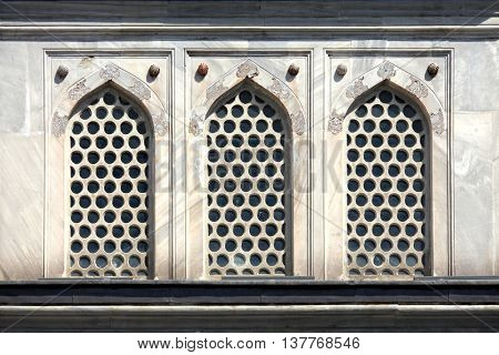 architectural window detail from old building in istanbul
