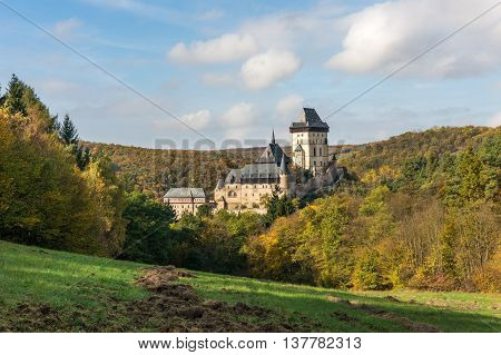 Karlstejn Castle In The Autumn Colors