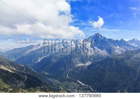 Stunning View Of The Mont Blanc Massif