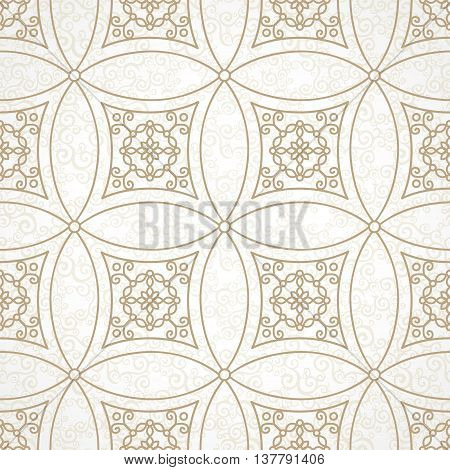 Vector Vintage Seamless Pattern In Eastern Style.