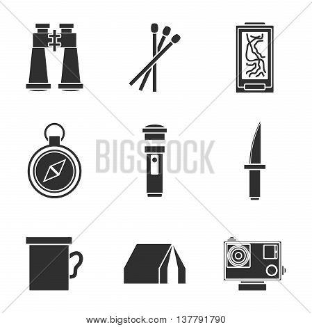 Survival kit icons set. Modern design. Vector illustration, EPS 10