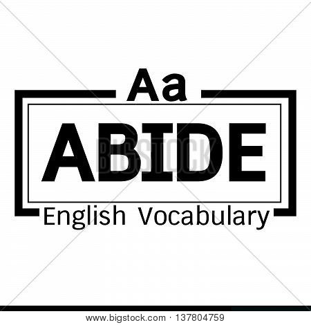 an images of ABIDE english word vocabulary illustration design