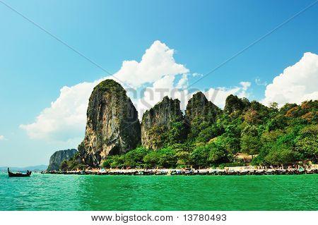 Limestone Cliffs In Krabi Province, Thailand