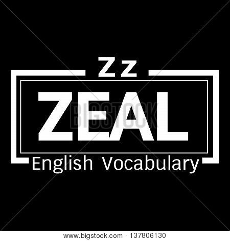 an images of ZEAL english word vocabulary illustration design