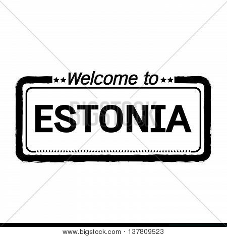 an images of Welcome to ESTONIA illustration design