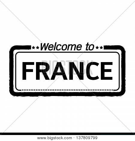 an images of Welcome to FRANCE illustration design