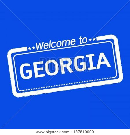 an images of Welcome to GEORGIA illustration design