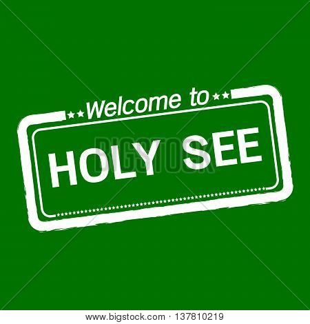 an images of Welcome to HOLY SEE illustration design