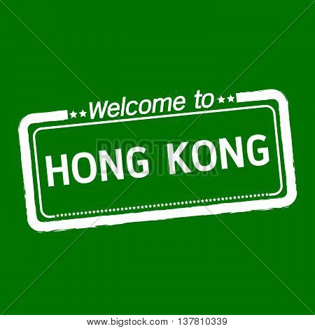 an images of Welcome to HONG KONG illustration design