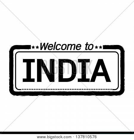 an images of Welcome to INDIA illustration design