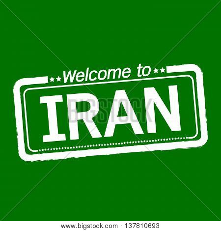 an images of Welcome to IRAN illustration design