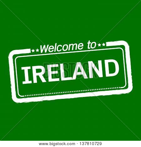 an images of Welcome to IRELAND illustration design