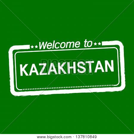 an images of Welcome to KAZAKHSTAN illustration design