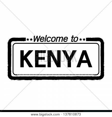 an images of Welcome to KENYA illustration design