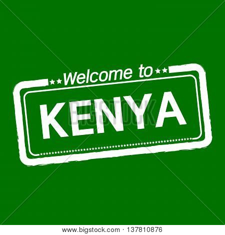 an images of Welcome to KENYA illustration design