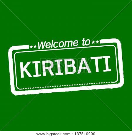 an images of Welcome to KIRIBATI illustration design