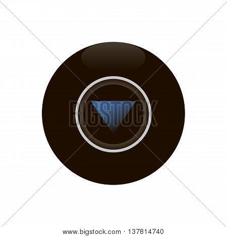 Magic 8 ball isolated on white background vector illustration.