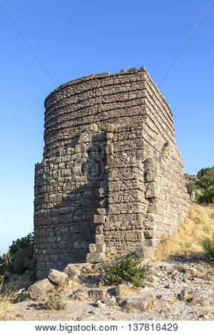 The ruins of the ancient city of Assos in Turkey.