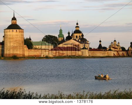 Fishing Near Walls Of Kirilo-Belozersky Monastery.