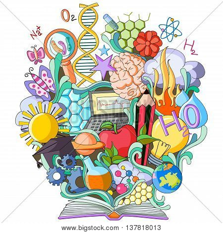 vector illustration of Book of Knowledge for Science