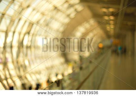 blur abstract modern corridor walking tunnel background