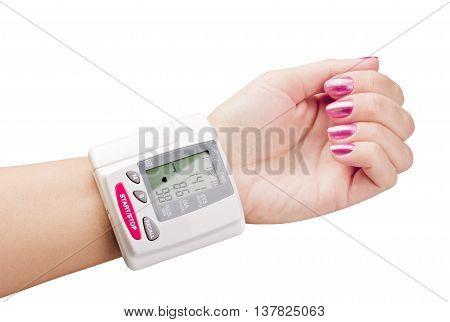 tonometer on hand to measure the pressure
