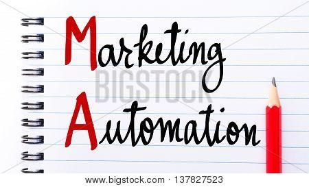 Am Marketing Automation Written On Notebook Page