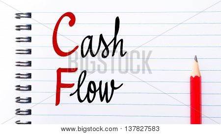 Cf Cash Flow Written On Notebook Page