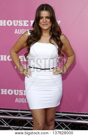Khloe Kardashian at the Los Angeles premiere of 'House Bunny' held at the Mann Village Theatre in Westwood, USA on August 20, 2008.