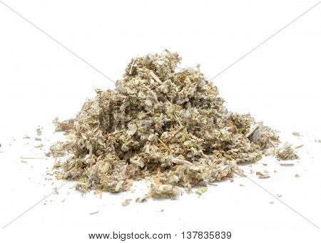 Dried Sage isolated on white background in studio
