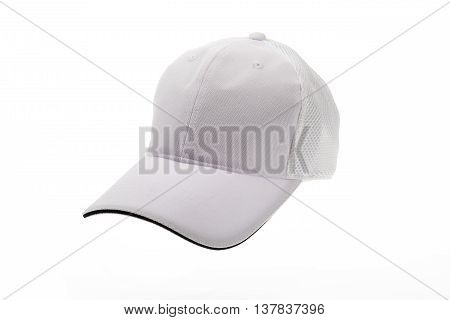 White golf cap for man or woman on white background
