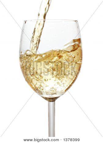 Pouring White Wine