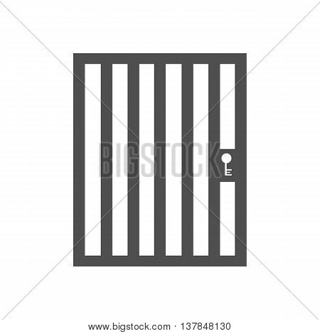 Aviary cage door on the white background. Vector illustration
