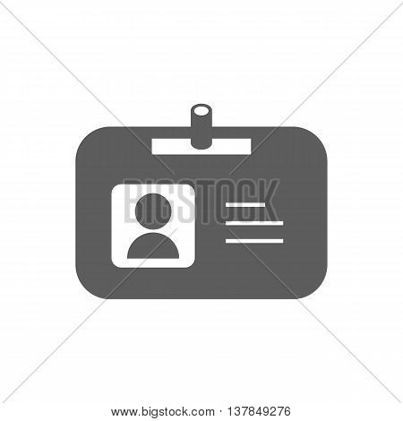 Name badge illustration. Id badge. Document determining identity icon. Id card. Vector illustration