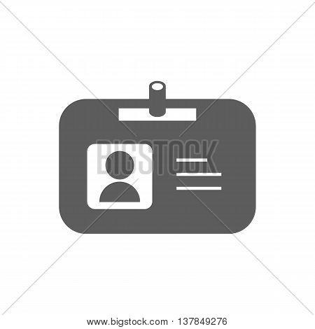 Name badge illustration. Id badge. Document determining identity icon. Id card. Vector illustration