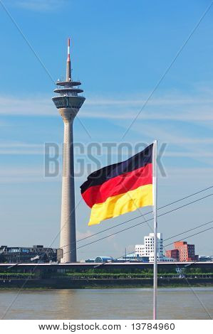 Rheinturm Tower Dusseldorf