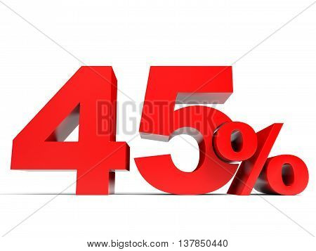 Red Forty Five Percent Off. Discount 45%.