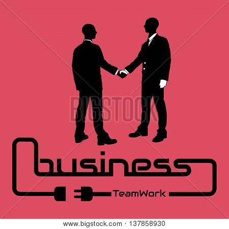 BUSINESS TEAMWORK BACKGROUND FLYER POSTER DESIG RED