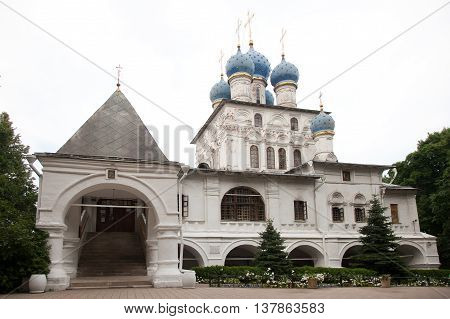 Moscow. Church of Our Lady of Kazan in Kolomenskoe