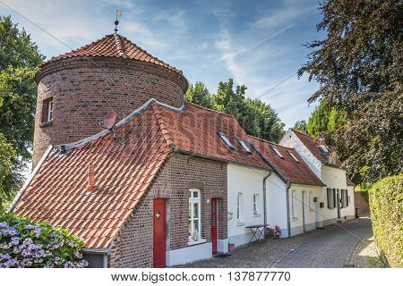 City wall and old houses in Kranenburg Germany