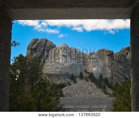 Entrance to Mount Rushmore in the Black Hills, South Dakota