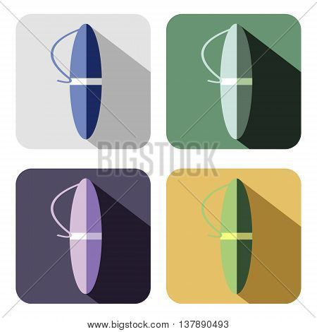 Vector icon. Set of colorful icons of pens isolated on the white background
