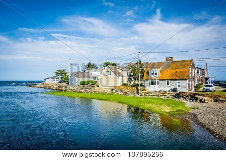 Houses On An Inlet In Rye, New Hampshire.