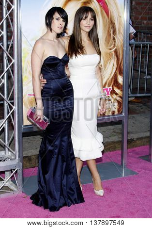 Rumer Willis and Katharine McPhee at the Los Angeles premiere of 'House Bunny' held at the Mann Village Theatre in Westwood, USA on August 20, 2008.