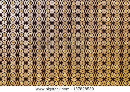 SEVILLE, SPAIN - September 12, 2015: Detail of the coffered ceiling of geometric forms and gilt fleurons in the Sala de Audiencias Alcazar of Seville on September 12, 2015 in Seville, Spain