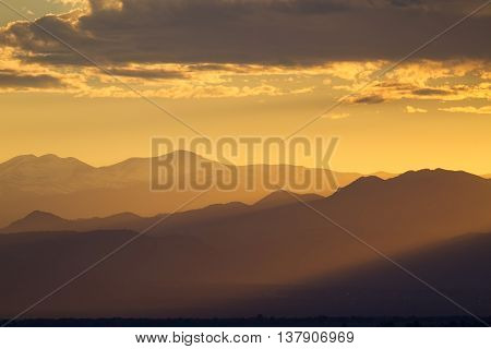 Magical Sunset Colors in Colorado Rocky Mountains