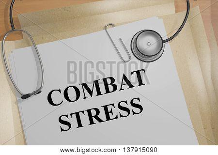 Combat Stress Medical Concept