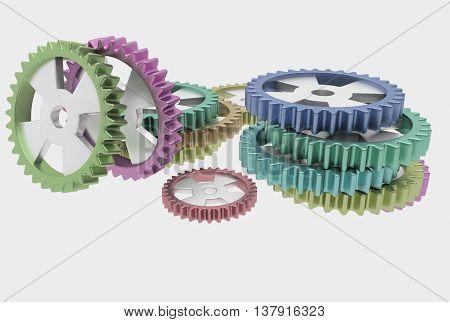 Steel Color Cog Wheels