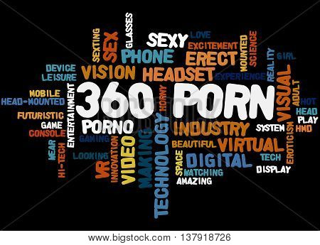 360 Porn, Word Cloud Concept 6