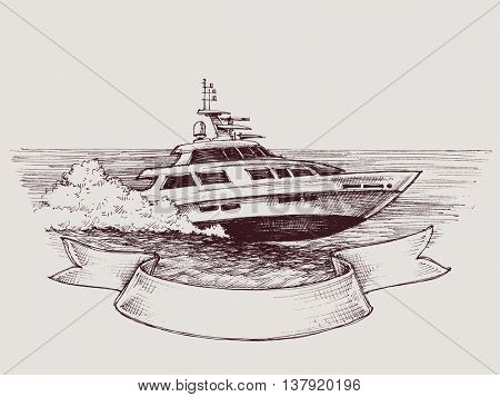 Vector speed boat